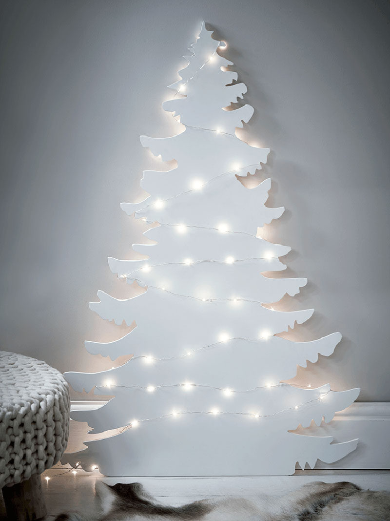 12 modern christmas trees you can decorate with this