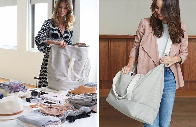 The Ultimate Gift Guide For The Modern Woman (40 Ideas!) // A weekend bag is essential for any girl who goes away ever. Even if it's just for a night or two, a proper sized bag is a must. #WeekendBag #GiftIdea