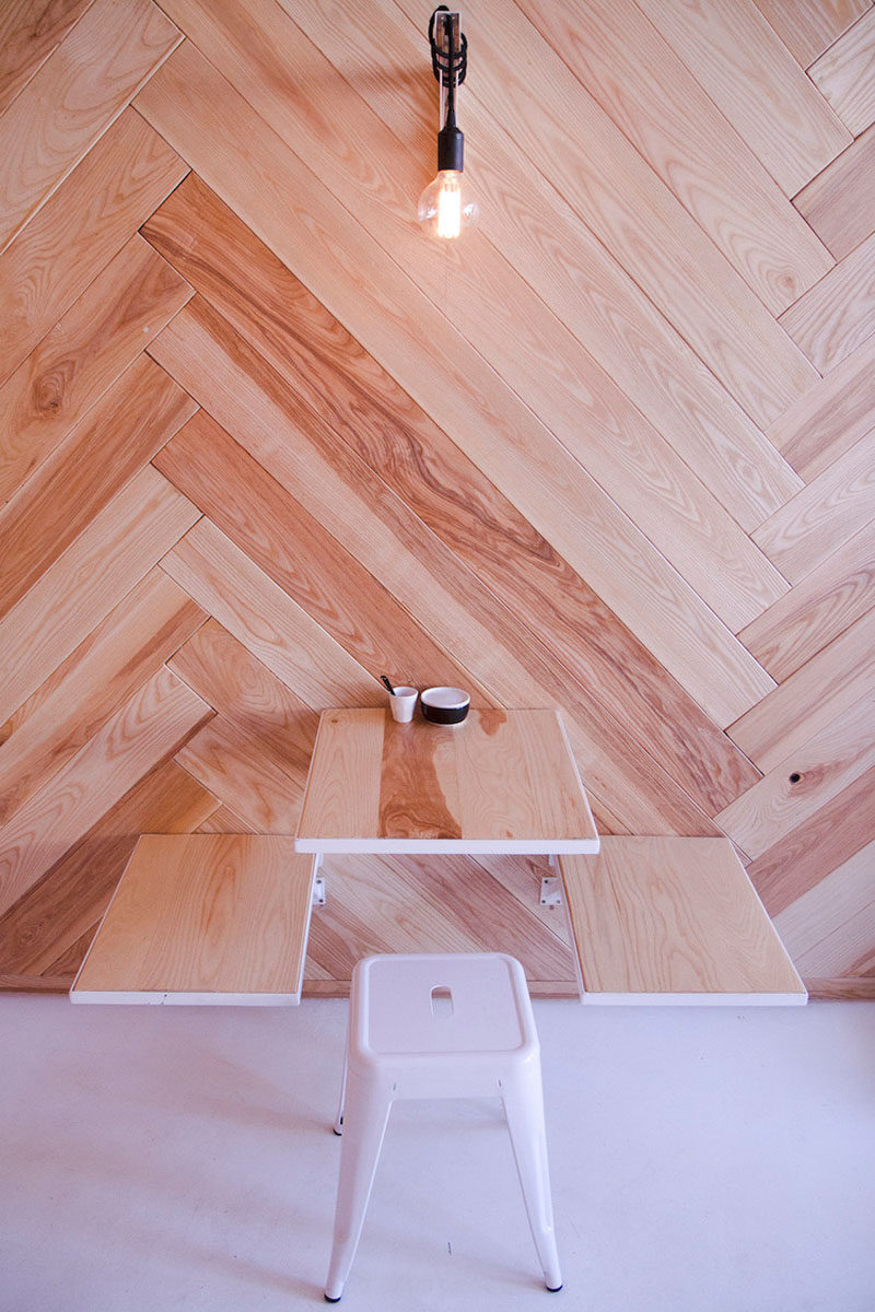 6 Ideas For Including Herringbone Patterns Into Your Interior// Herringbone Feature Wall