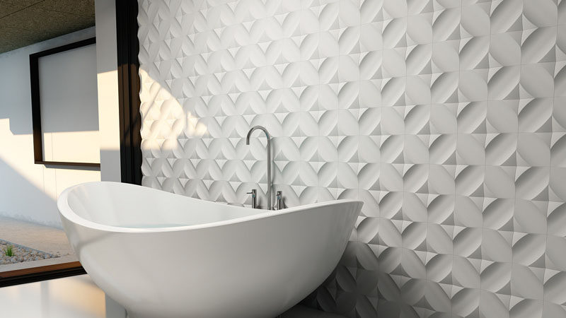 Bathroom Tile Ideas   Install 3D Tiles To Add Texture To Your Bathroom //  The Part 44