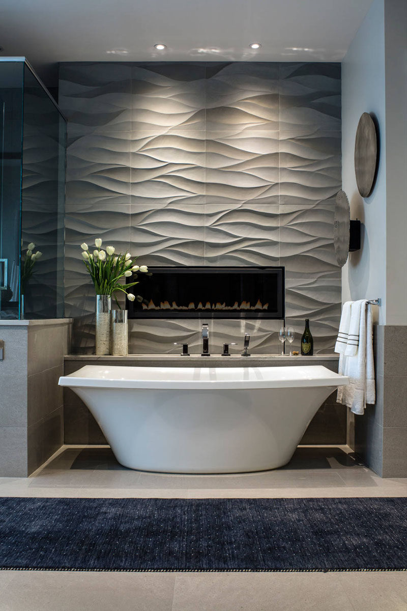 bathroom tile ideas install 3d tiles to add texture to your bathroom wavy - Bathroom Tile Ideas For Tub Surround
