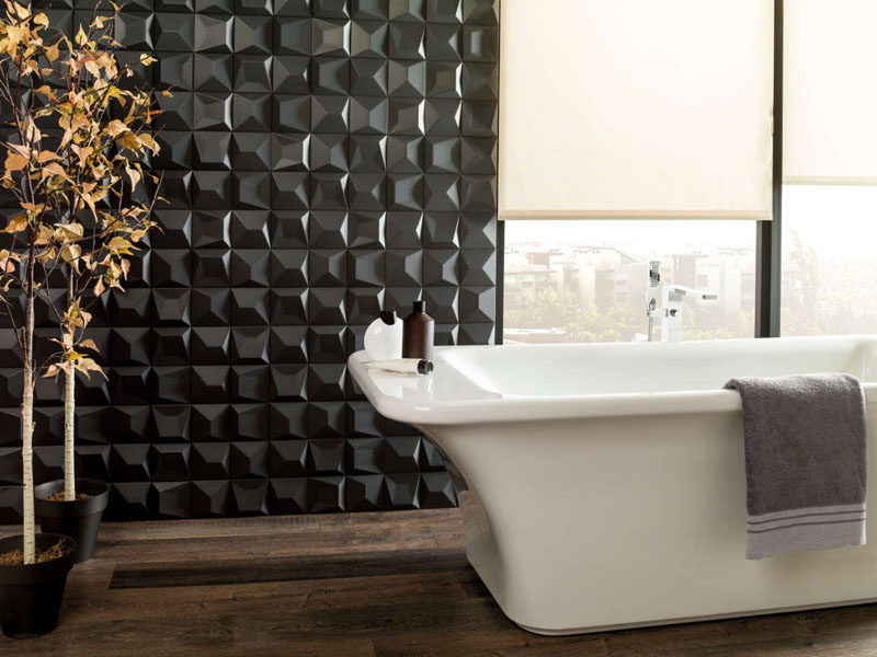 black bathroom wall tiles texture