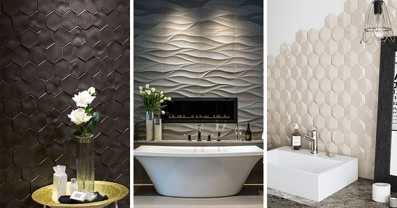 Bathroom Tile Ideas - Install 3D Tiles To Add Texture To Your Bathroom