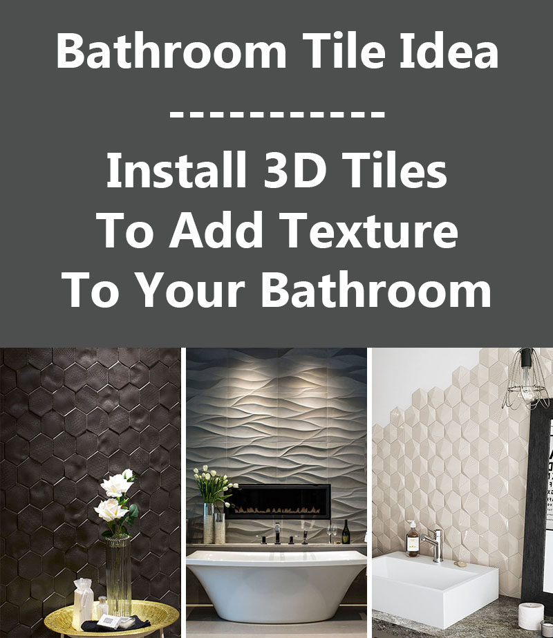 Bathroom Sign Texture bathroom tile idea - install 3d tiles to add texture to your