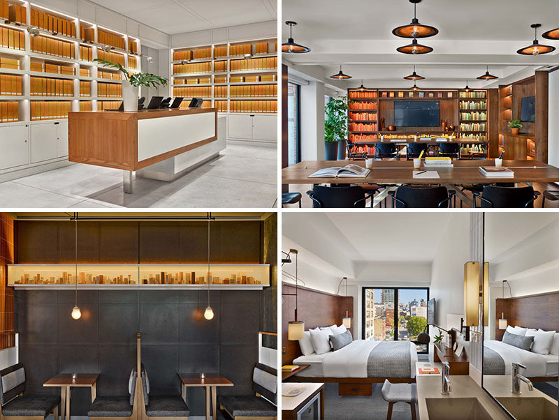 Design firm AvroKO, have completed the design of the Arlo Hudson Square, a hotel in New York City. The design of the hotel includes lots of common areas like a music room and living room, a rooftop bar, and hotel rooms that have great city views.