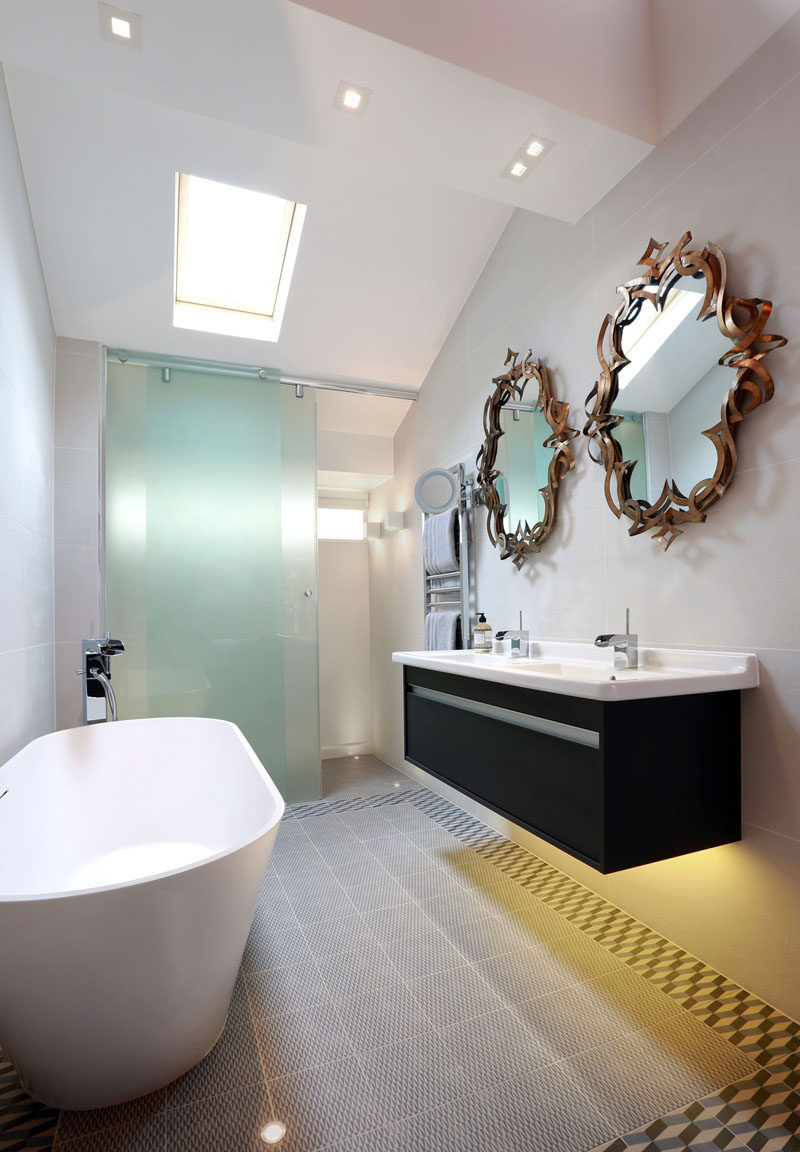 Unique  Bathroom Mirror Ideas For A Double Vanity Unique and artistic mirrors can double