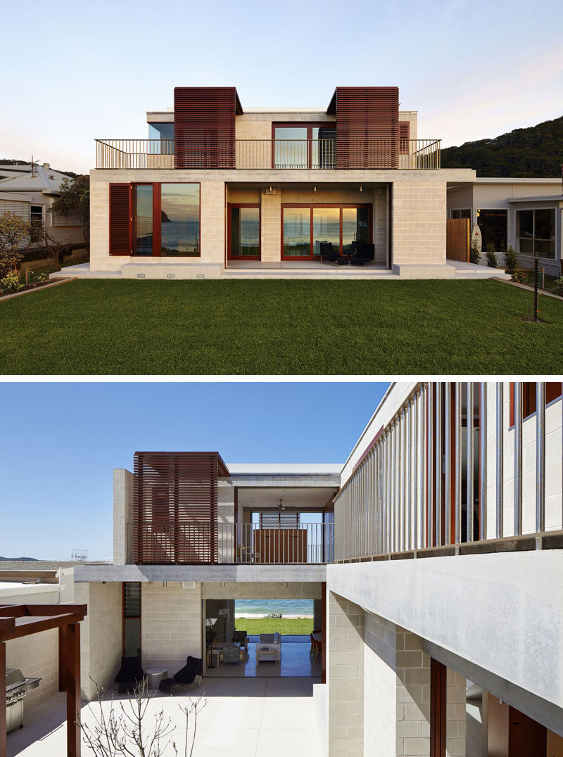 Pictures of houses on the beach - This Australian Beach House Has Been Designed So That Different Parts Of The House Can Be Opened And Closed At Different Times Depending On The Weather And