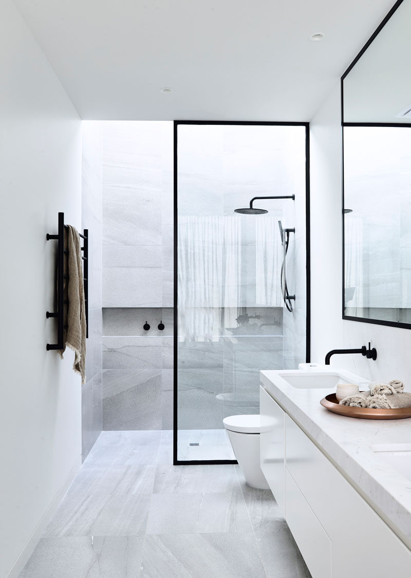 Bathroom Design Idea Black Shower Frames Contemporist