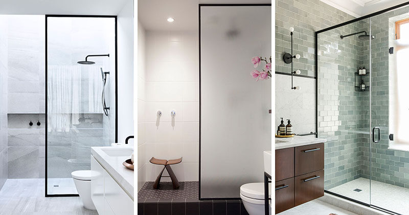 Bathroom Design Idea Black Shower Frames