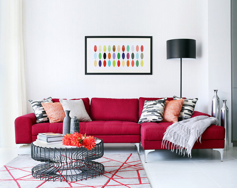 10 Small Living Room Ideas // Add A Pop Of Color To A Neutral Room