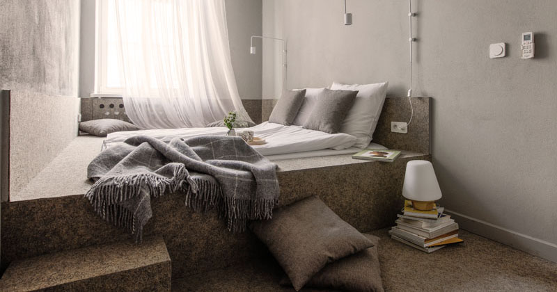 Small Bedroom Design Idea - A wall-to-wall built-in platform bed