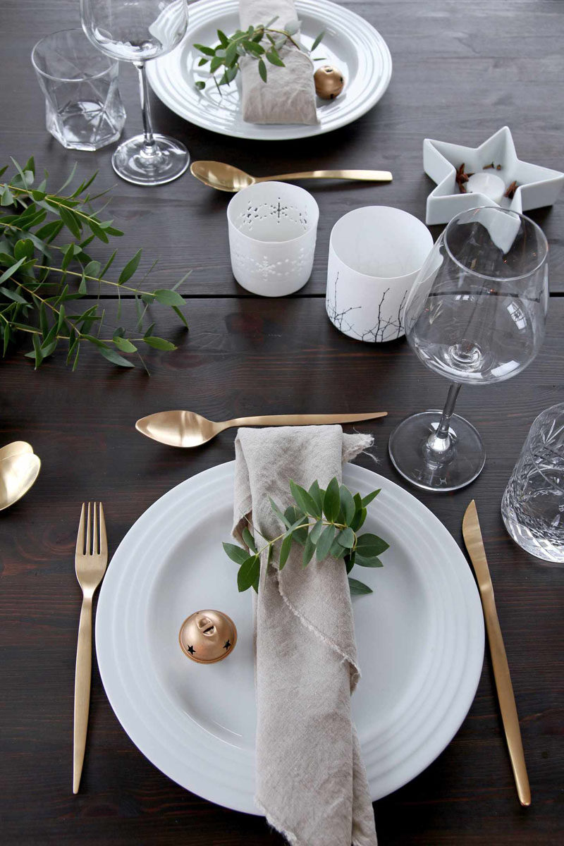 15 Inspirational Ideas For Creating A Modern Christmas Table Full Of ...