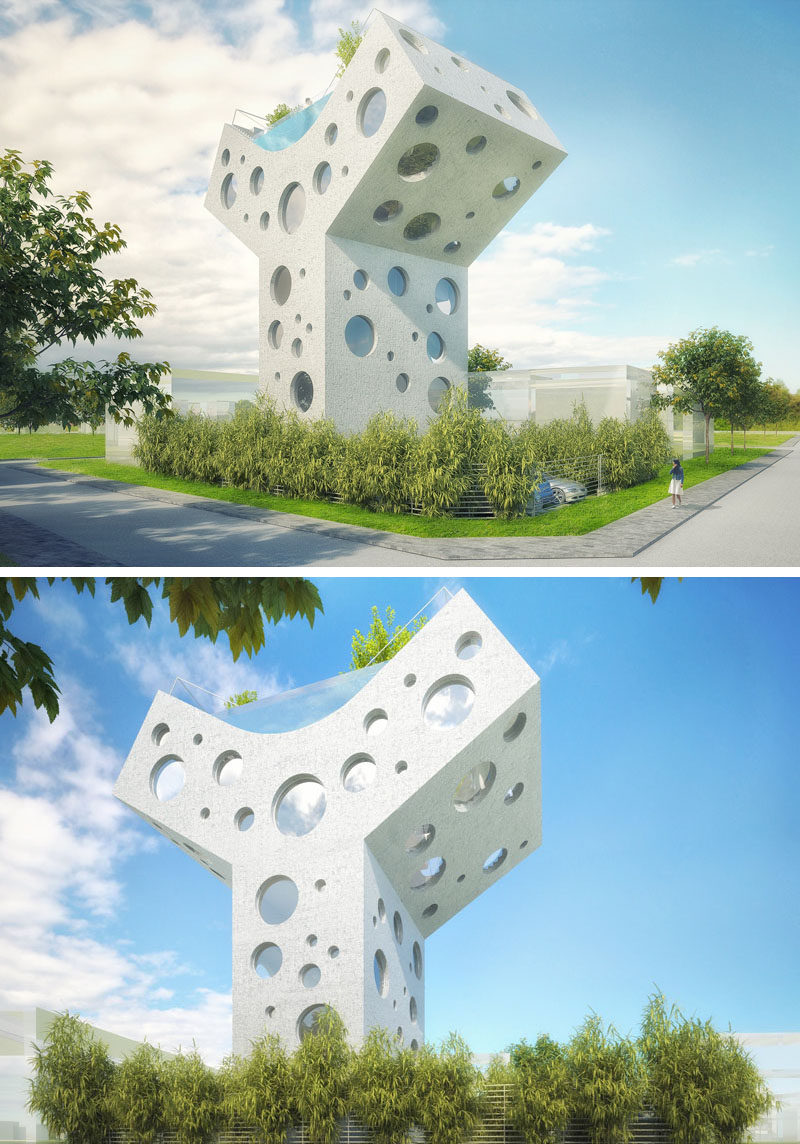 This y shaped house concept is a fun futuristic fantasy for Y shaped house plans