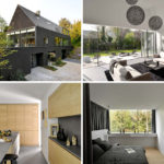 This contemporary black brick house was renovated for a new life in Belgium