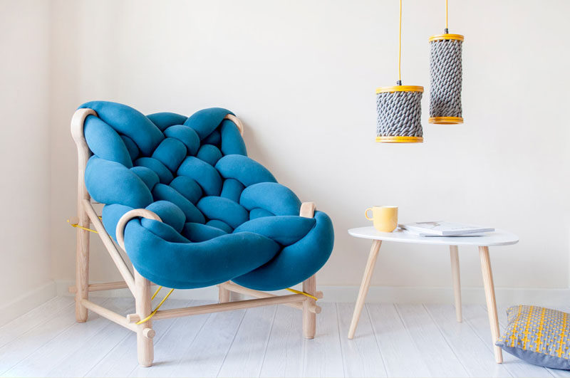 Veega Tankun, a recent graduate from the University of Brighton, and founder of VeegaDesign, has created a collection of furniture that features weaving and knitting techniques.