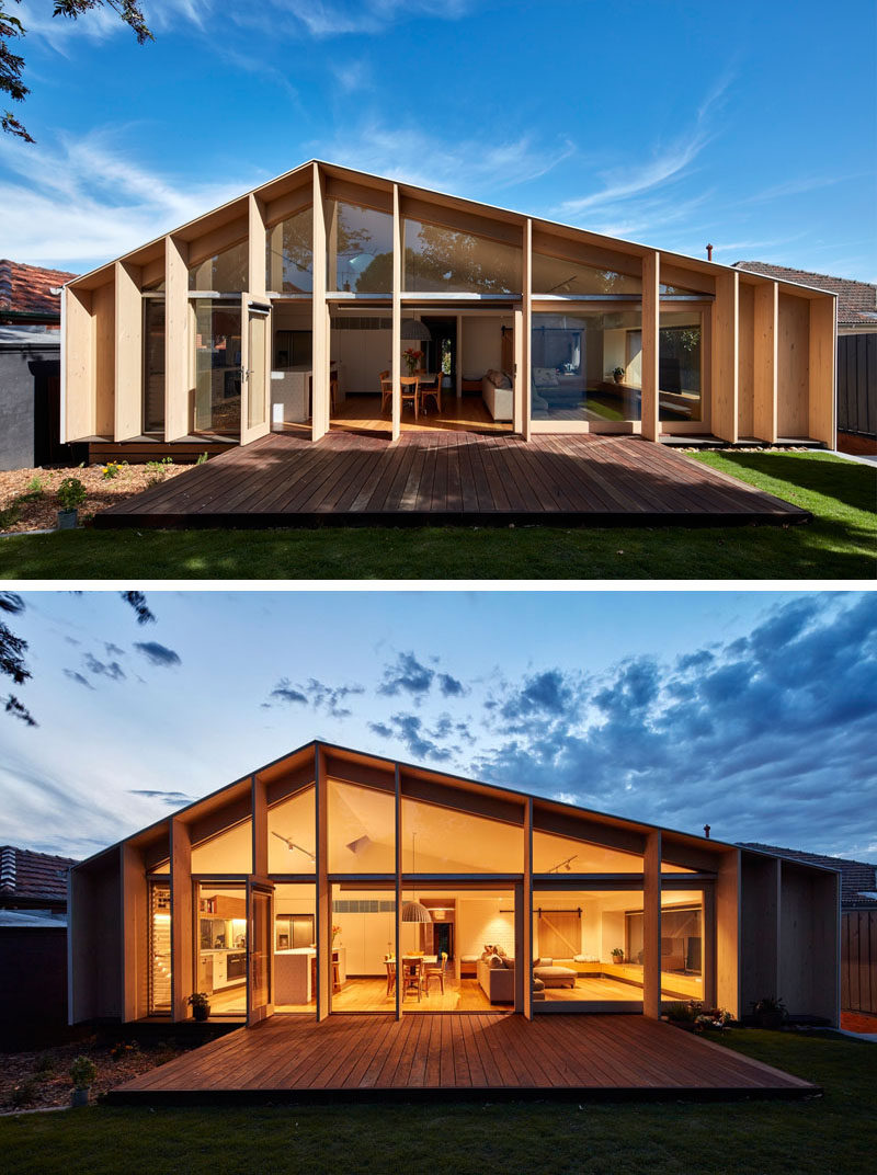 Australian architecture firm Warc Studio have designed this extension for a 1960's house in Melbourne, that adds additional living space for the home owners.