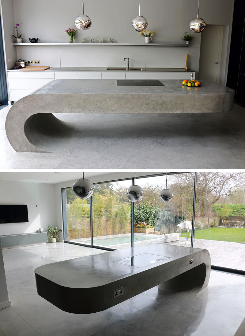 11 creative concrete countertop designs to inspire you for How to make designs in concrete