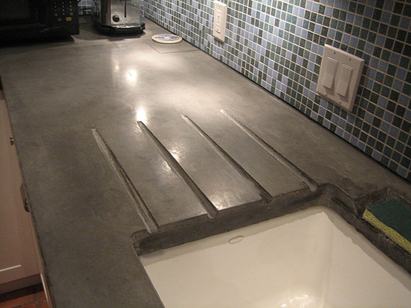 Concrete Bench Top Kitchen