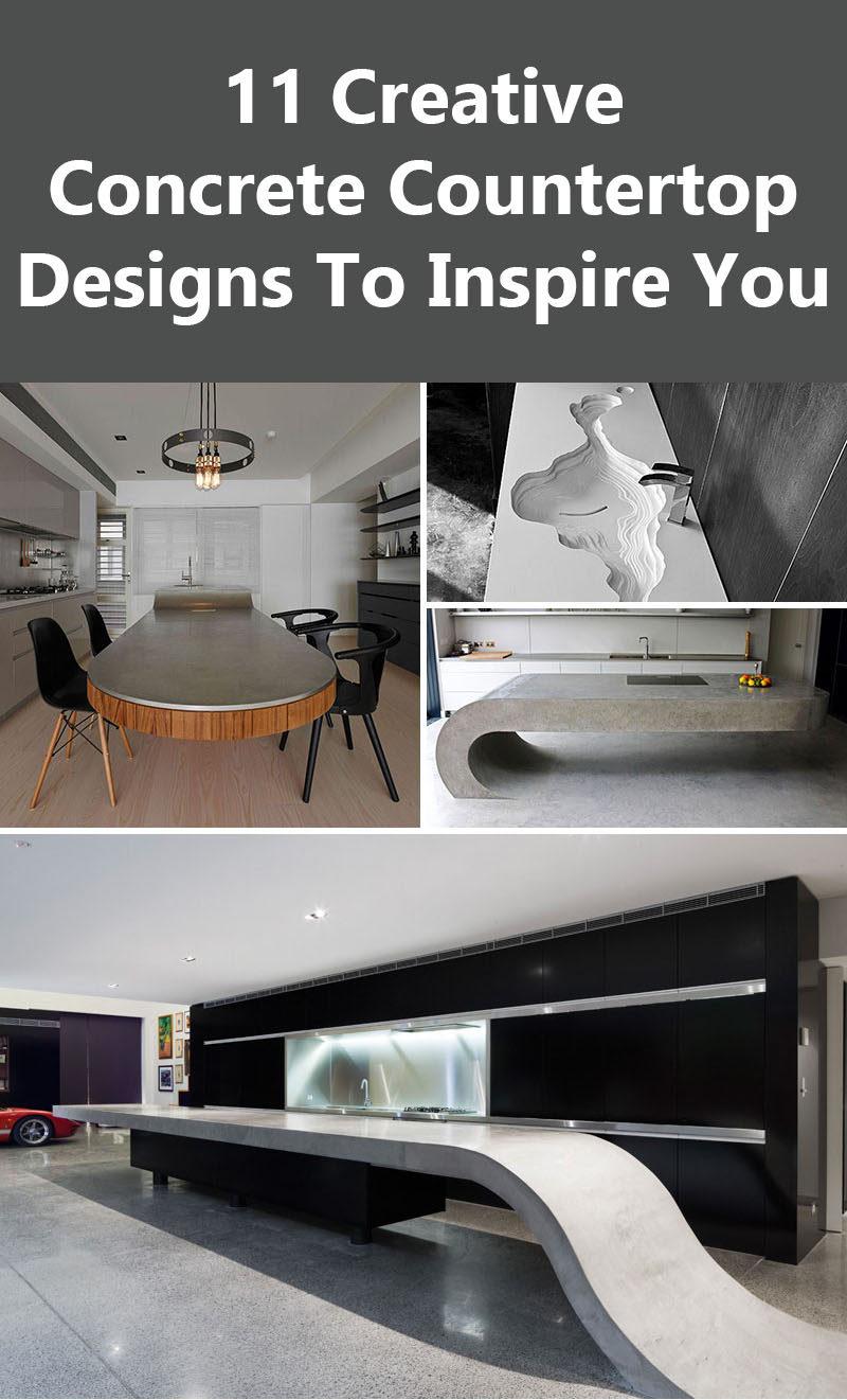 11 Creative Concrete Countertop Designs To Inspire You