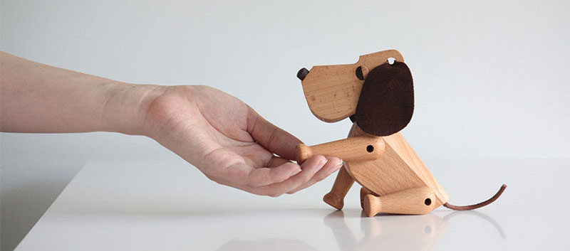 18 Decorative Animal Objects That Blur The Line Between Toys And Decor // This decorative puppy shows that toy dogs aren't just for kids.