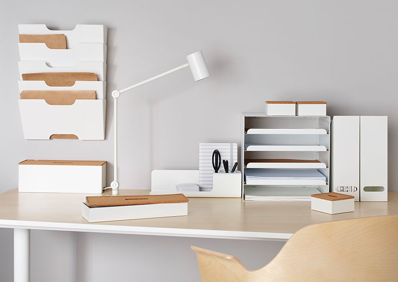 Desk Organization Ideas - 6 Easy Ways You Can Organize Your Desk To Make It More Inviting // Create a cohesive look or theme.