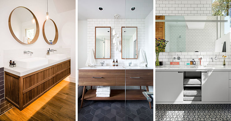 5 Bathroom Mirror Ideas For A Double Vanity, What Size Mirror For Double Vanity