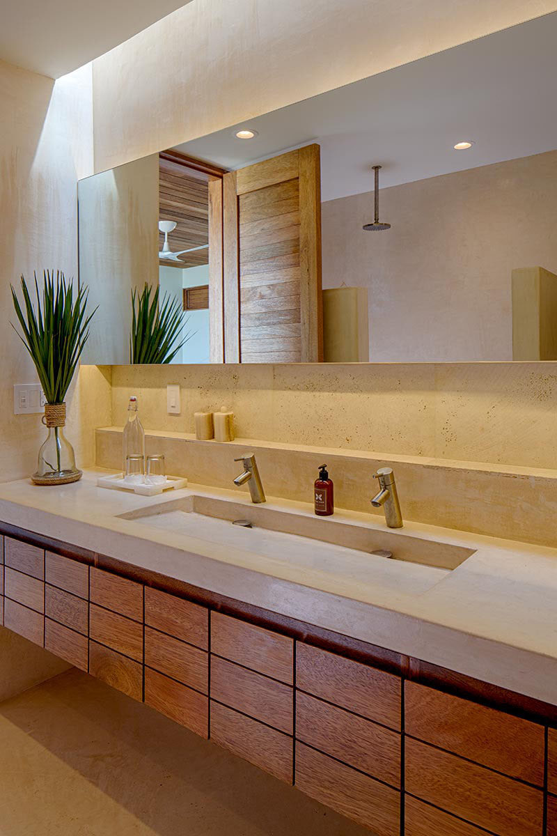 Extra Large Double Bathroom Vanities bathroom design idea - extra large sinks or trough sinks