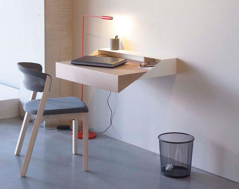 16 Wall Desk Ideas That Are Great For Small Spaces This Minimal Geometric Floating