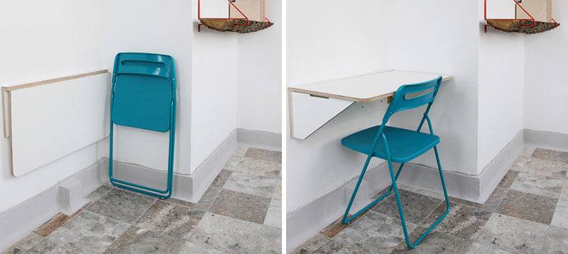 16 Wall Desk Ideas That Are Great For Small Es This White Folding