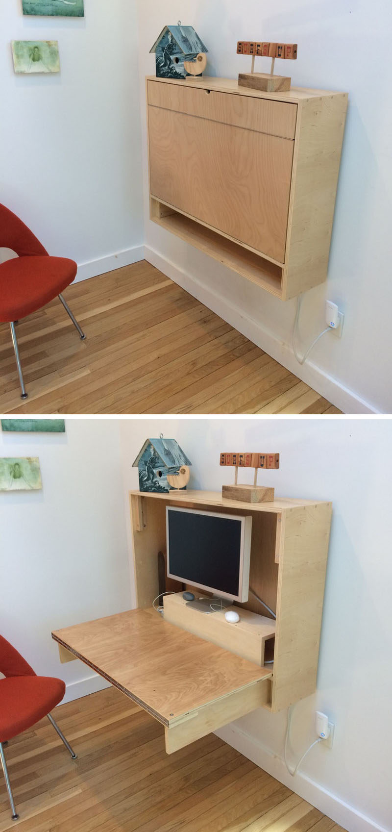 Desk Ideas Part - 42: 16 Wall Desk Ideas That Are Great For Small Spaces // If Youu0027re