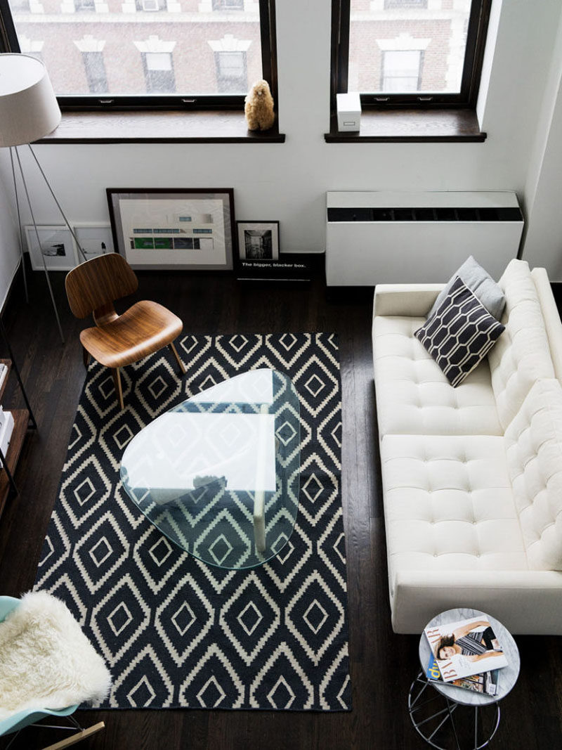 10 Small Living Room Ideas // Use glass or lucite furniture