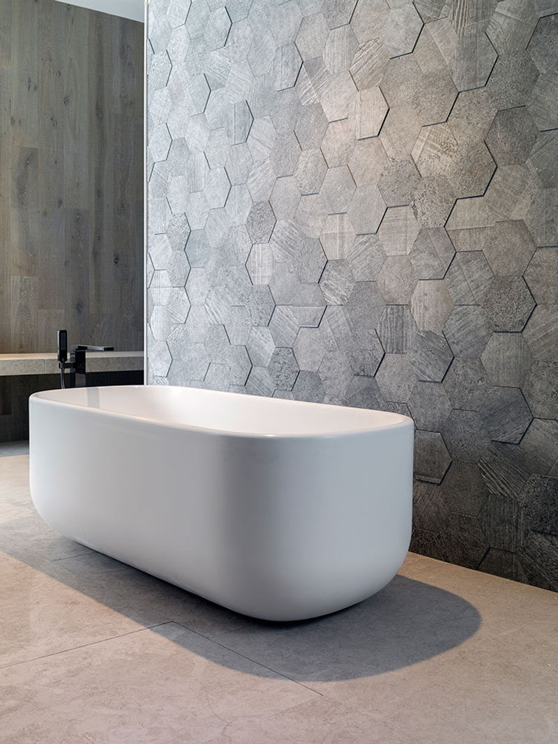Bathroom Tile Ideas Grey Hexagon Tiles CONTEMPORIST - Honeycomb tile bathroom