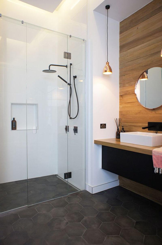 Grey Hexagon Bathroom Tiles 211216 442
