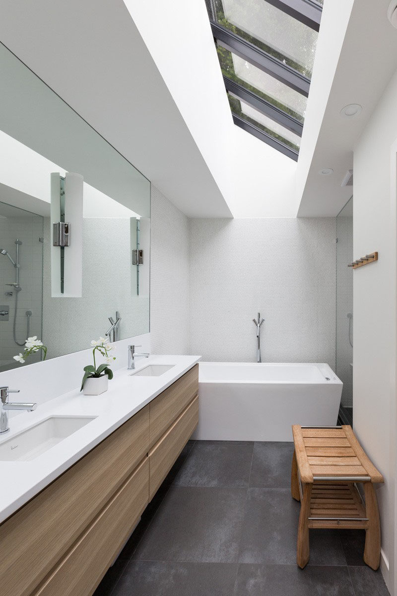 5 bathroom mirror ideas for a double vanity contemporist for Photos of contemporary bathrooms