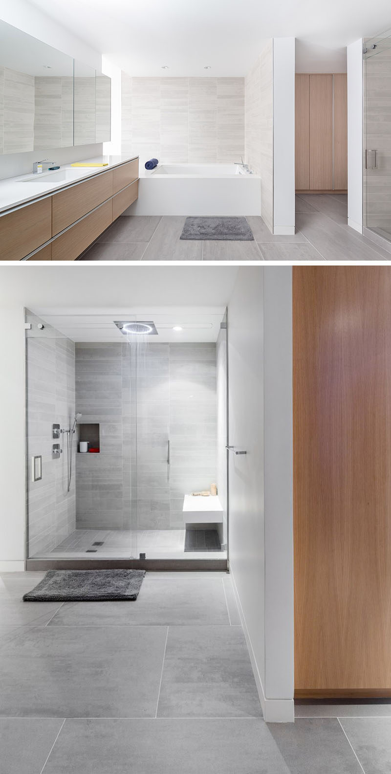 bathroom tile idea use large tiles on the floor and walls 18 rh contemporist com