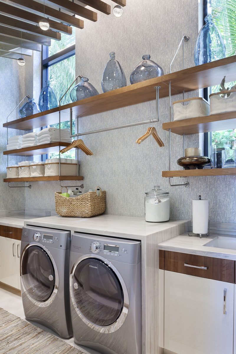 7 Laundry Room Design Ideas To Incorporate Into Your Own A Hanging Bar