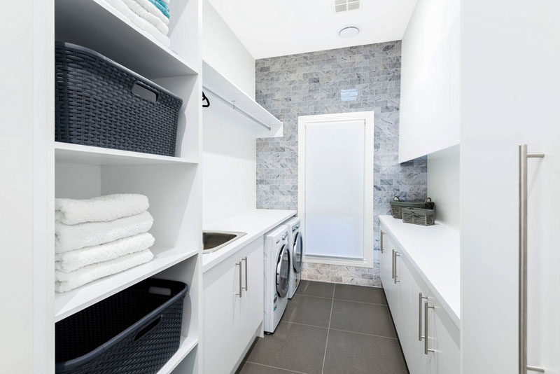 7 laundry room design ideas to incorporate into your own laundry use baskets for - Laundry Design Ideas