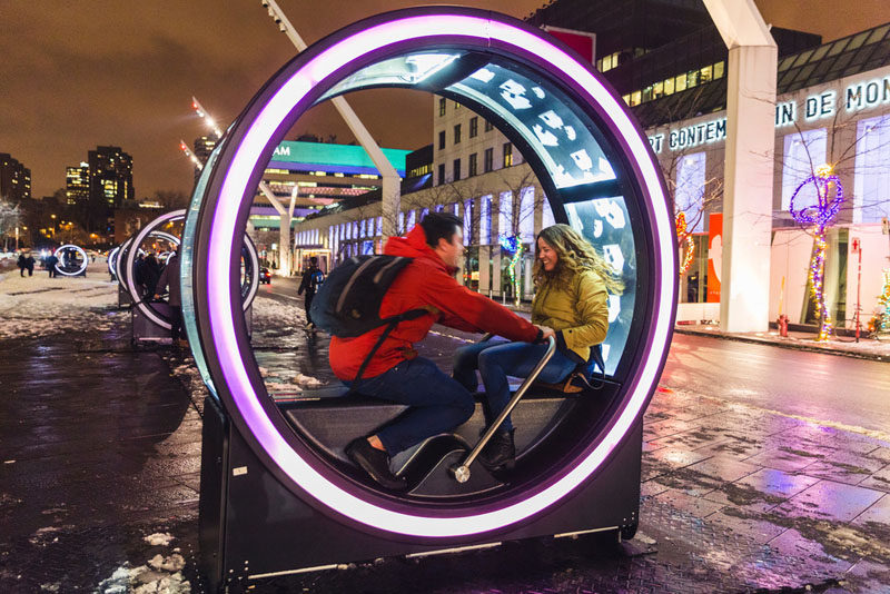 13 Giant Interactive Loops That Play Fairy Tales Have Been Installed In Montreal