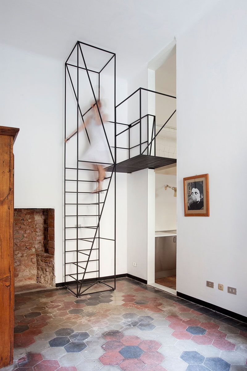 13 Stair Design Ideas For Small Es A Minimal Black Staircase Like This One