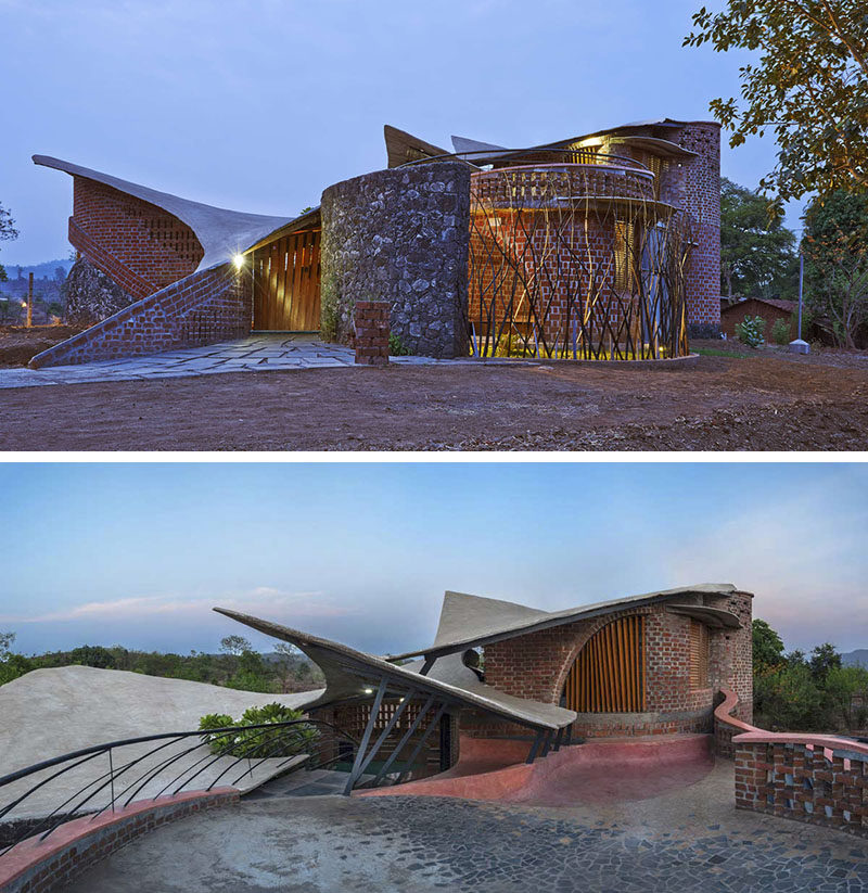 14 Modern Houses Made Of Brick // Bricks And Old Stone Cover The Exterior Of