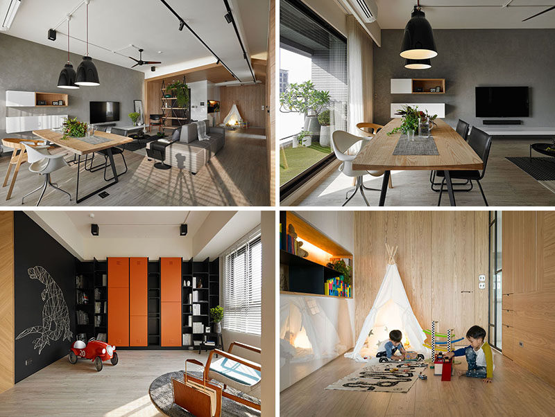This Bright Family Apartment Has Been Divided Into Zones That All Serve Unique Functions