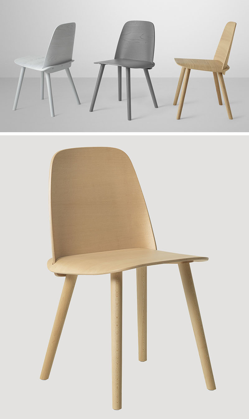 Furniture Ideas - 14 Modern Wood Chairs For Your Dining Room // These simple wood chairs put a modern spin on the traditional Scandinavian style dining chairs.