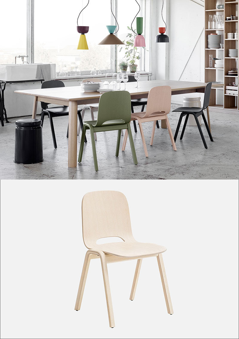 The Small Cut Out At The Back Of These Wood Chairs Adds An Interesting  Touch To An Otherwise Simple Modern Design.