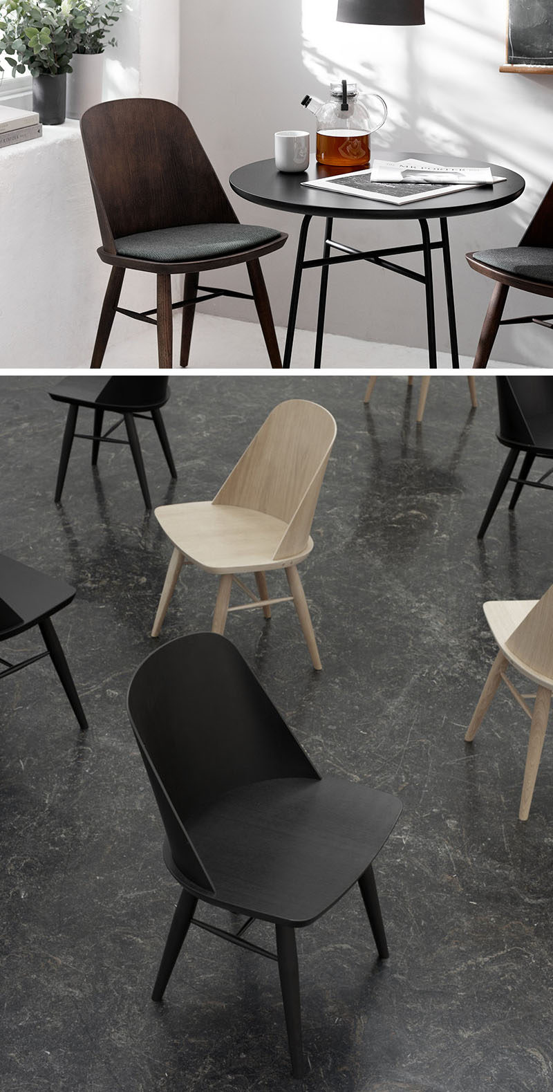 Furniture Ideas   14 Modern Wood Chairs For Your Dining Room // The Curved  Backrest