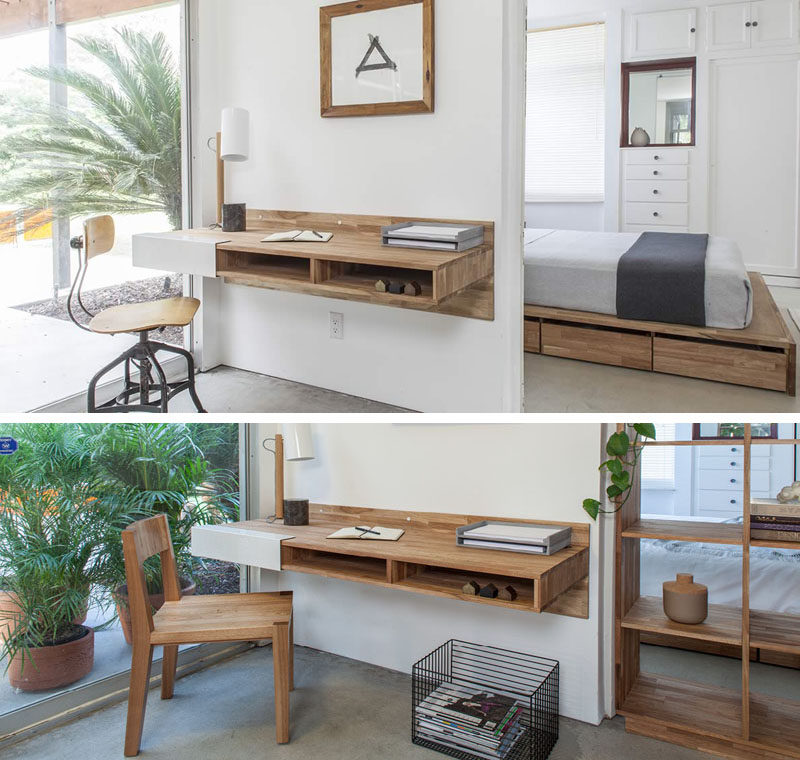 16 Wall Desk Ideas That Are Great For Small Spaces | CONTEMPORIST