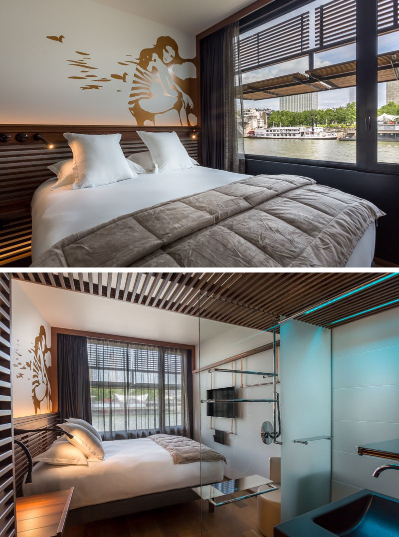 Hotel Room Design Ideas To Use In Your Own Bedroom // Include some art and paint a mural on the wall behind your bed