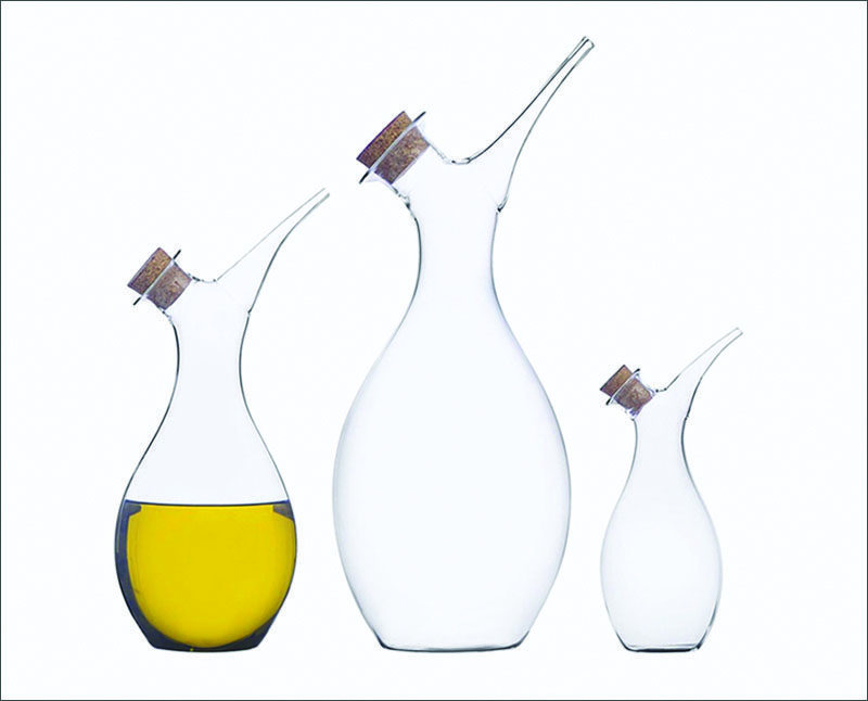 Essential Kitchen Tools - 11 Creative Oil & Vinegar Dispensers // This artistic oil dispenser lets you carefully drizzle just a little bit of oil or pour out larger quantities when necessary.