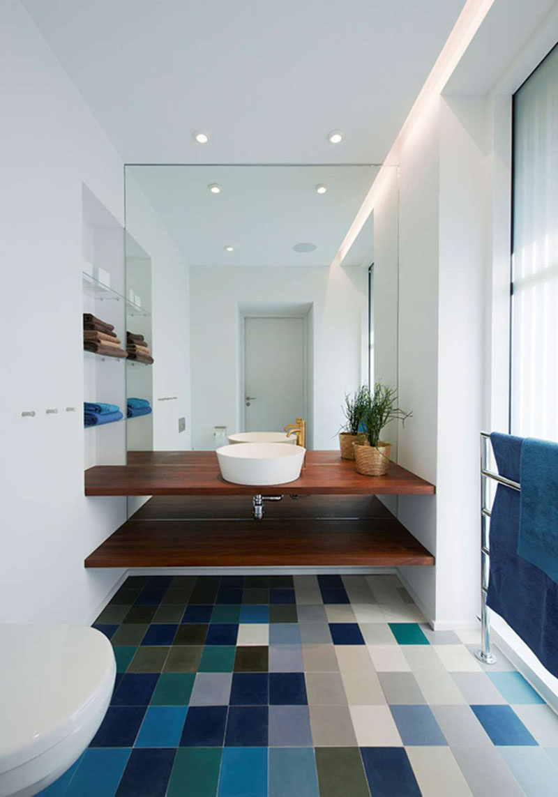 Blue Bathroom Floor Tile Ideas