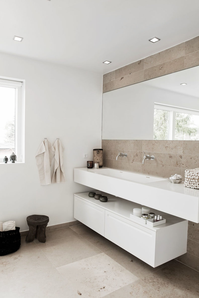 Open shelf bathroom