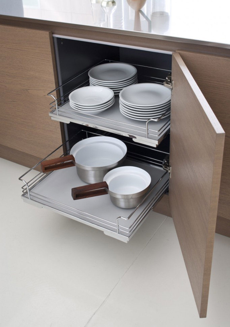 Kitchen Design Ideas - Pull-Out Drawers In Kitchen Cabinets & Kitchen Design Ideas - Pull-Out Drawers In Kitchen Cabinets ...